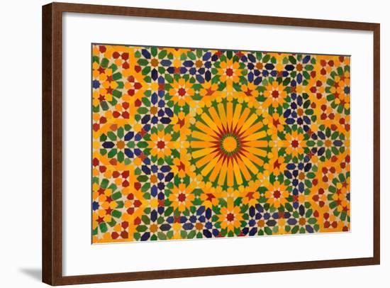 Oriental Mosaic Decoration-p.lange-Framed Art Print