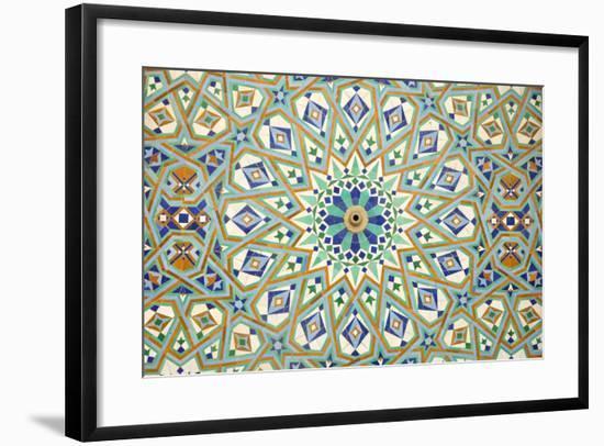 Oriental Mosaic In Casablanca-p.lange-Framed Art Print