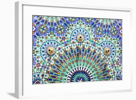 Oriental Mosaic In Morocco-p.lange-Framed Art Print