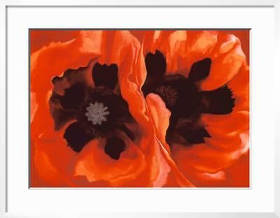 Oriental Poppies C 1928 Serigraph Georgia O Keeffe Art Com