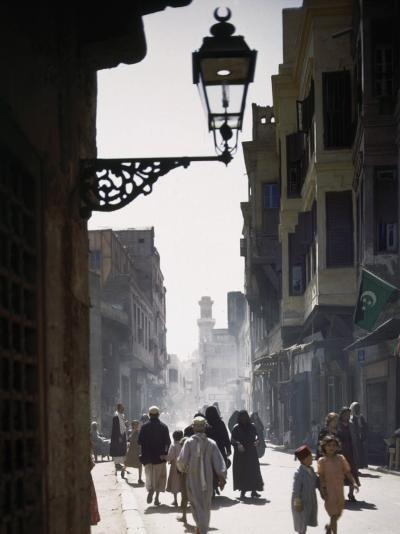 Oriental Quarter in Cairo Is Bustling with People-B^ Anthony Stewart-Photographic Print