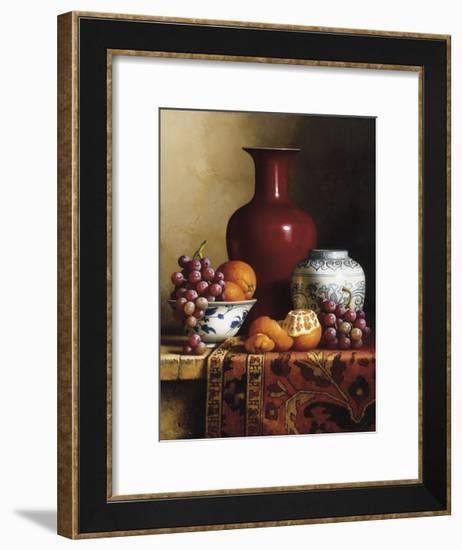 Oriental Still Life I-Loran Speck-Framed Giclee Print