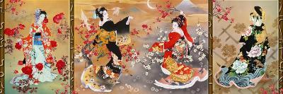 Oriental Triptych-Haruyo Morita-Art Print