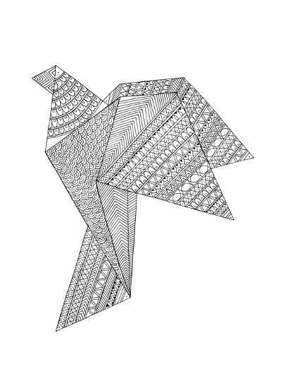 Origami 2-Neeti Goswami-Art Print