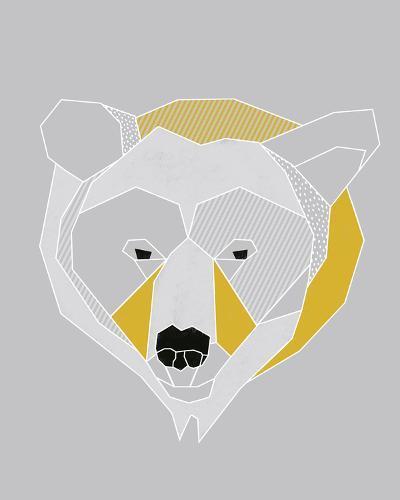 Origami Bear - Portrait-Myriam Tebbakha-Art Print