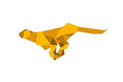 Origami Made Puma-Denny Stoekenbroek-Art Print