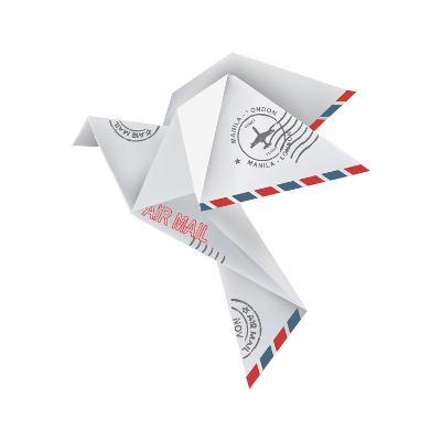 Origami Pigeon-jiris-Art Print