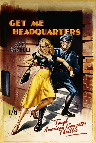 Original Cover Design for 'Get Me Headquarters'-Joseph Werner-Giclee Print