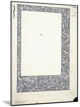 Original Drawing for a Full-Page Border-William Morris-Mounted Giclee Print