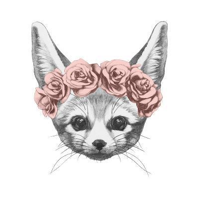 Original Drawing of Rabbit. Isolated on White Background-victoria_novak-Art Print
