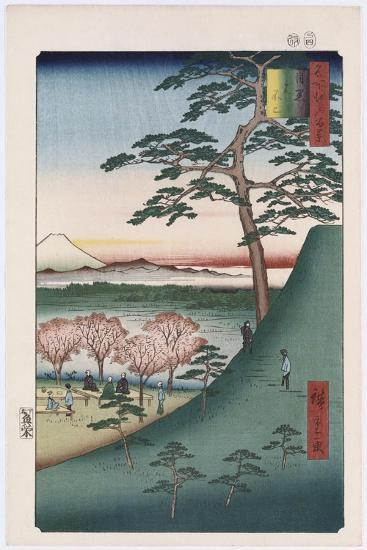 Original Fuji, Meguro', from the Series 'One Hundred Views of Famous Places in Edo'-Utagawa Hiroshige-Giclee Print