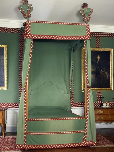 Original Louis XIII Style Canopy on Bed Made in Recent Times, France--Giclee Print