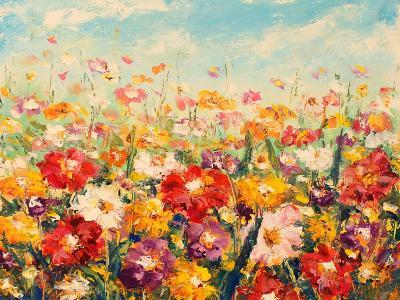 Original Oil Painting of Flowers,Beautiful Field Flowers on Canvas. Modern Impressionism.Impasto Ar-Lera Art-Art Print
