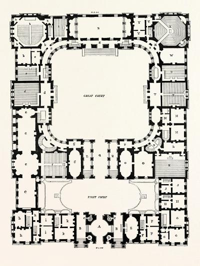 Original Plan of the Principal Storey of the New Building for the University of Edinburgh--Giclee Print