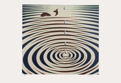 Origines - Etude de mouvement-Victor Vasarely-Limited Edition