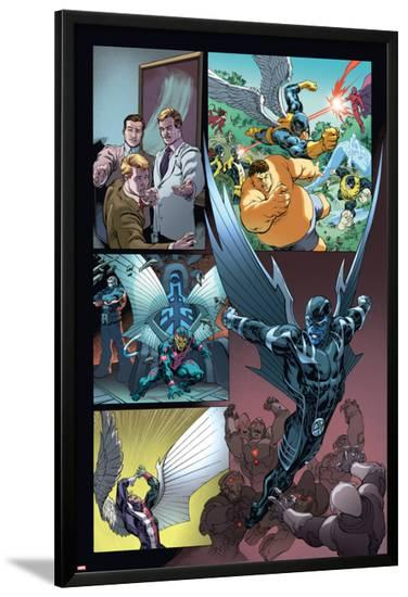 Origins of Marvel Comics: X-Men No.1: Archangel Flying-Tom Raney-Lamina Framed Poster