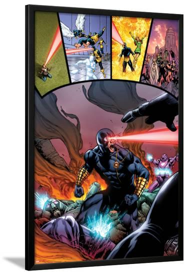 Origins of Marvel Comics: X-Men No.1: Cyclops Fighting-Brian Ching-Lamina Framed Poster
