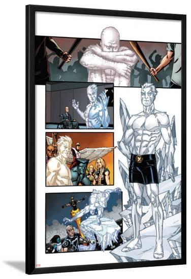 Origins of Marvel Comics: X-Men No.1: Iceman Standing-Pablo Raimondi-Lamina Framed Poster