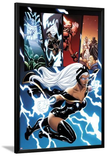 Origins of Marvel Comics: X-Men No.1: Storm Flying-Terry Dodson-Lamina Framed Poster