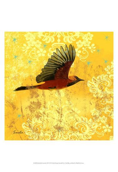 Oriole & Cartouche III-Evelia Designs-Art Print