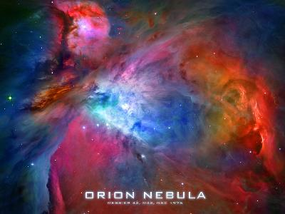 Orion Nebula Text Space Photo Poster Print--Poster