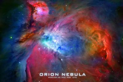 Orion Nebula Text Space Photo--Art Print