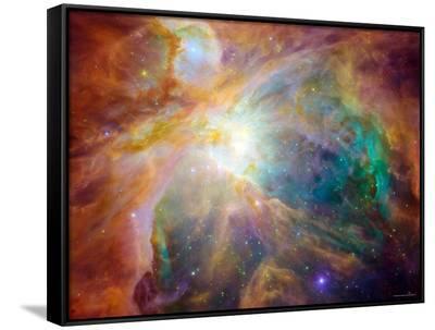Orion Nebula-Stocktrek Images-Framed Canvas Print