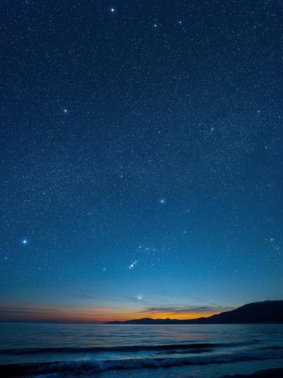 Orion Over the Georgia Strait, Canada-David Nunuk-Photographic Print