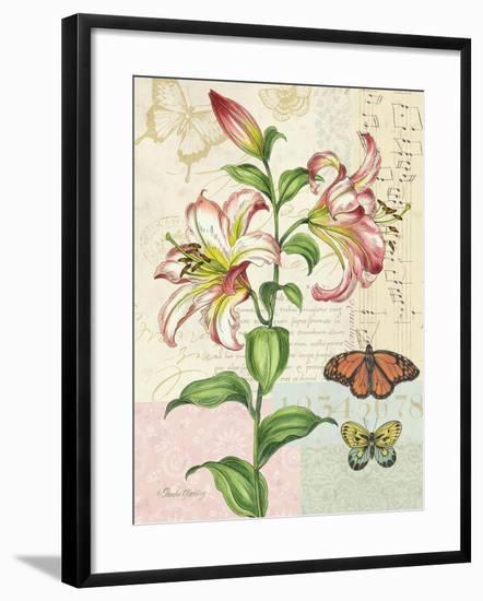 Oripet Lily Collage-Pamela Gladding-Framed Art Print