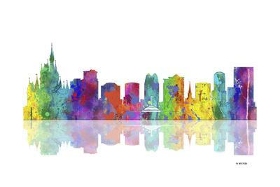 Orlando Florida Skyline 1-Marlene Watson-Giclee Print