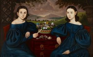 Ann and Eliza Dusenberry, 1838 by Orlando Hand Bears