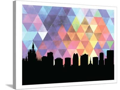 Orlando Triangle-Paperfinch 0-Stretched Canvas Print