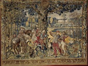 """Les Chasses de Maximilien dites """"Belles chasses de Guise"""" by Orley Barend Van"""