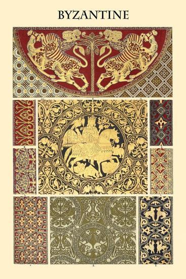 Ornament-Byzantine-Racinet-Art Print