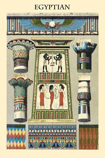 Ornament-Egyptian-Racinet-Art Print