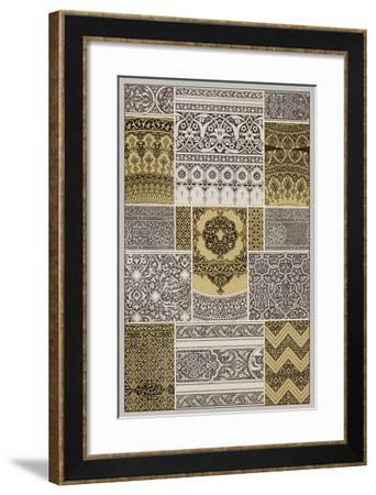 Ornament in Gold & Silver II--Framed Giclee Print