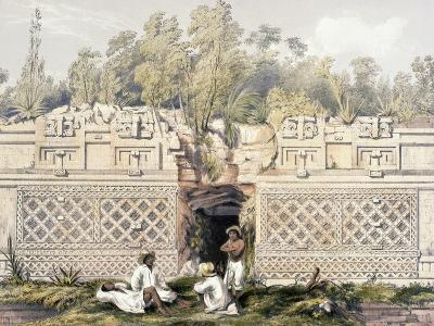 Ornament over the Gateway of the Great Teocallis, from 'Views of Ancient Monuments in Central…-Frederick Catherwood-Giclee Print