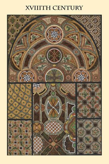Ornament-XVIIIth Century-Racinet-Art Print
