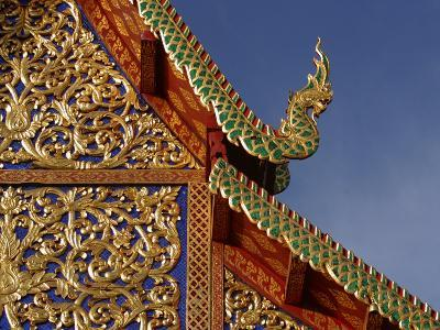 Ornamental Architectural Details on the Exterior of a Pagoda, Thailand--Photographic Print