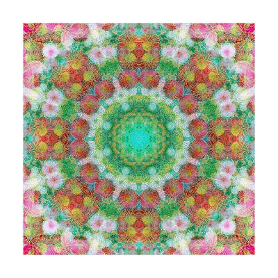 Ornamental Blossom Mandala IV-Alaya Gadeh-Art Print