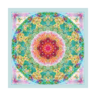 Ornamental Flower Circle N-Alaya Gadeh-Art Print