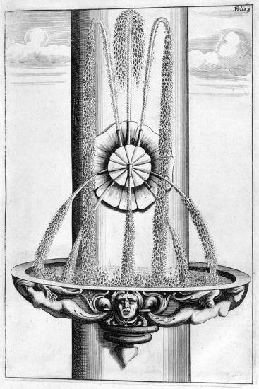 Ornamental Fountain Design, 1664-Georg Andreas Bockler-Giclee Print