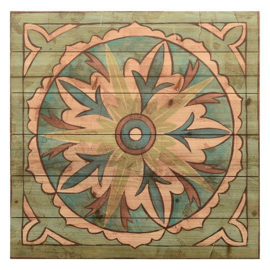 """Ornamental Tile 2"" Arte de Legno Digital Print on Solid Wood Wall Art--Alternative Wall Decor"
