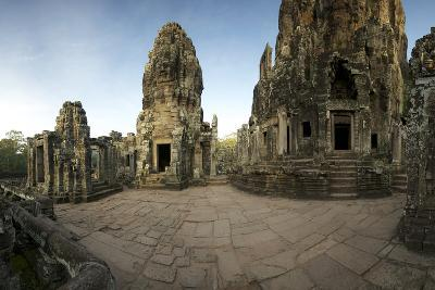 Ornate Bas Relief on the 12th Century Buddhist Pyramid Temple, Bayon-Jim Ricardson-Photographic Print