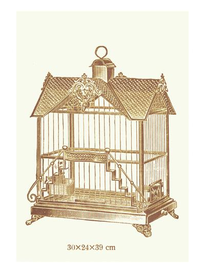 Ornate Brown Bird Cage F--Art Print