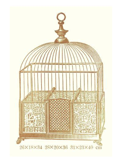 Ornate Brown Bird Cage I--Art Print