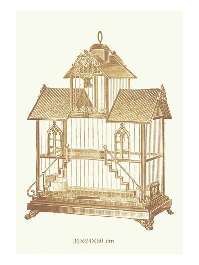 Ornate Brown Bird Cage K--Art Print