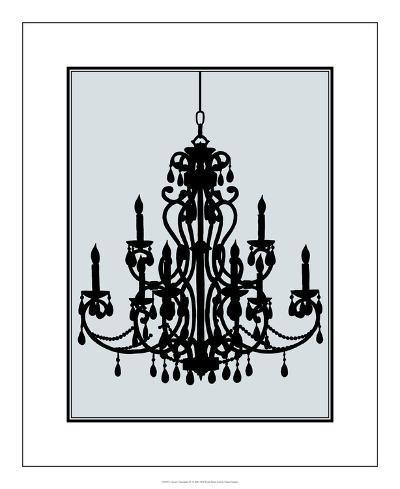 Ornate Chandelier IV-Ethan Harper-Premium Giclee Print