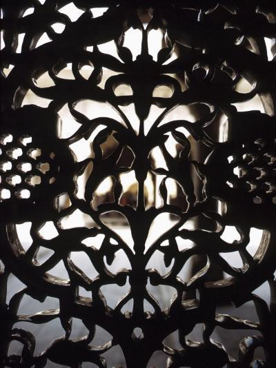 Ornate Detail of a Wrought Iron Gate in India--Photographic Print