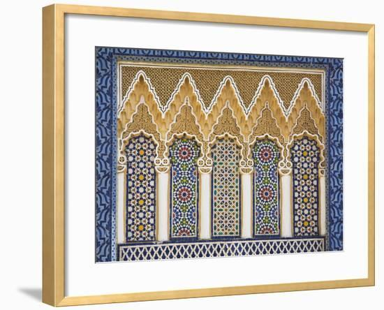 Ornate Detail With Coloured Tiles, Royal Palace, Fez-El-Jedid, Fez (Fes),  Morocco, North Africa Framed Photographic Print by | Art com
